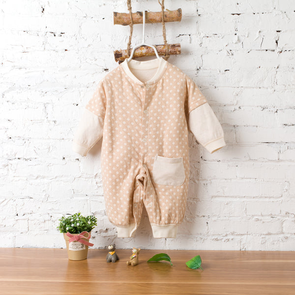 Lovely Jacquard white sleeves Romper Suit