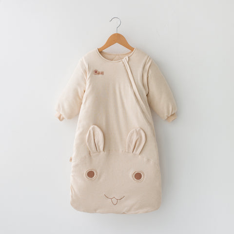 Best Baby Sleeping Bag with Adorable Bunny Design - 100% Organic Cotton