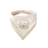 Super Cute Animal Embroidered Bandana Bib With Piping