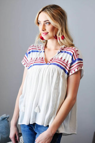 Mollie Embroidered Top