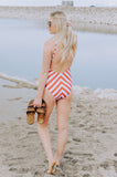 Candy Striper One-Piece Swimsuit
