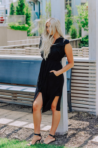 Monarch Black Dress