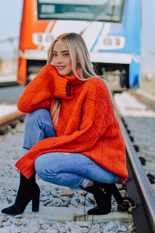 Mimi Oversized Chunky Turtleneck Sweater