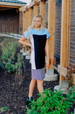 CeeCee Colorblock Sweater Dress