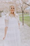 Scarlett White Lace Midi Dress