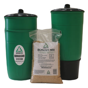 Bokashi twin bin with 1kg mix