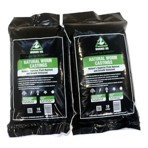 WormsRus Worm Castings 2x 10 litre bags