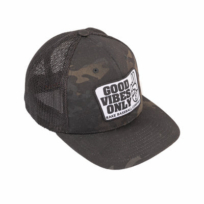 Good Vibes Only multicam mesh flexfit