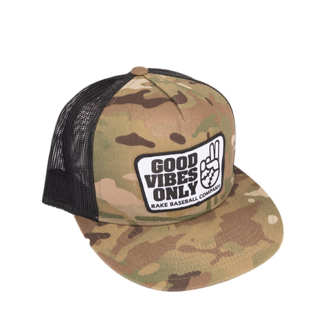 Good Vibes Only  Panel Snapback Hat