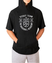 RA Baseball Academy Scout Team Short Sleeve  Moisture Wicking Hooded Tee with Pouch