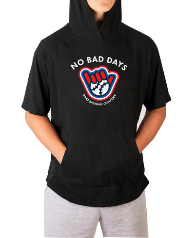 No Bad Days Short Sleeve Moisture Wicking Hooded tee w Pouch
