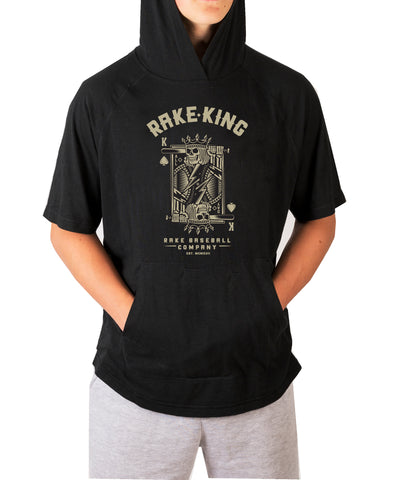 Rake King Moisture Wicking Hooded Tee with Pouch