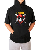 Rake Ripper Short Sleeve Moisture Wicking Hooded Tee w Pouch
