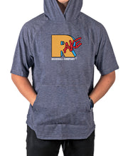 RakeTV Short Sleeve Moisture Wicking Hooded Tee w Pouch