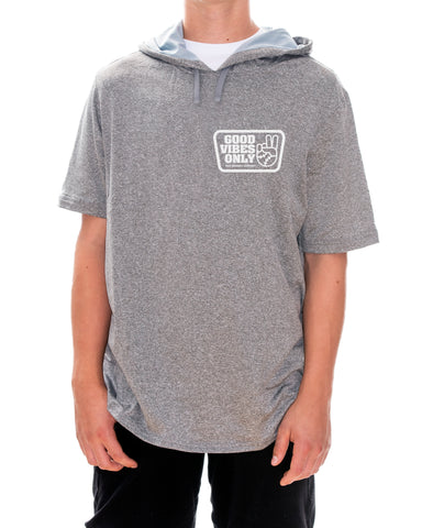 Good Vibes Only Box Short Sleeve Hoodie (Dri Fit)