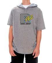 RakeTV Checker Short Sleeve Hoodie (Dri Fit)