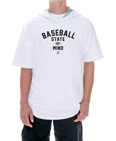 Baseball State Of Mind Short Sleeve Hoodie (Dri Fit)