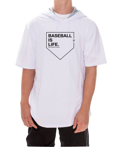 Baseball is Life Short Sleeve Hoodie