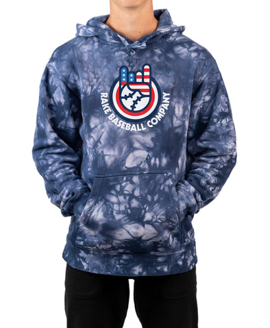Rock On Circle Tie Dye Hoodie