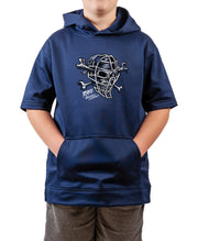 Youth Catcher Skull Short Sleeve Hoodie