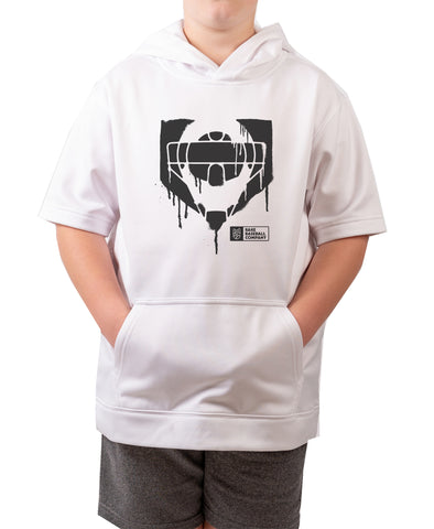 Youth Catcher Drip Short Sleeve Hoodie