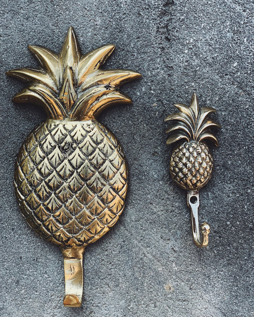 Brass Pineapples - small