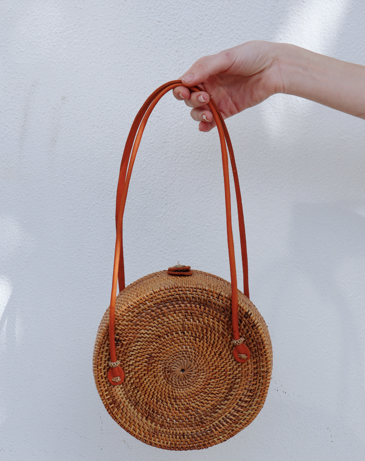 Handled Rattan Bag