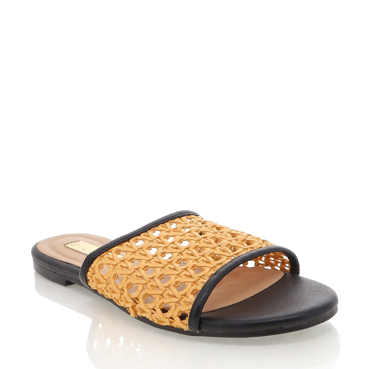 Inez- Rattan Slides (2 colours)