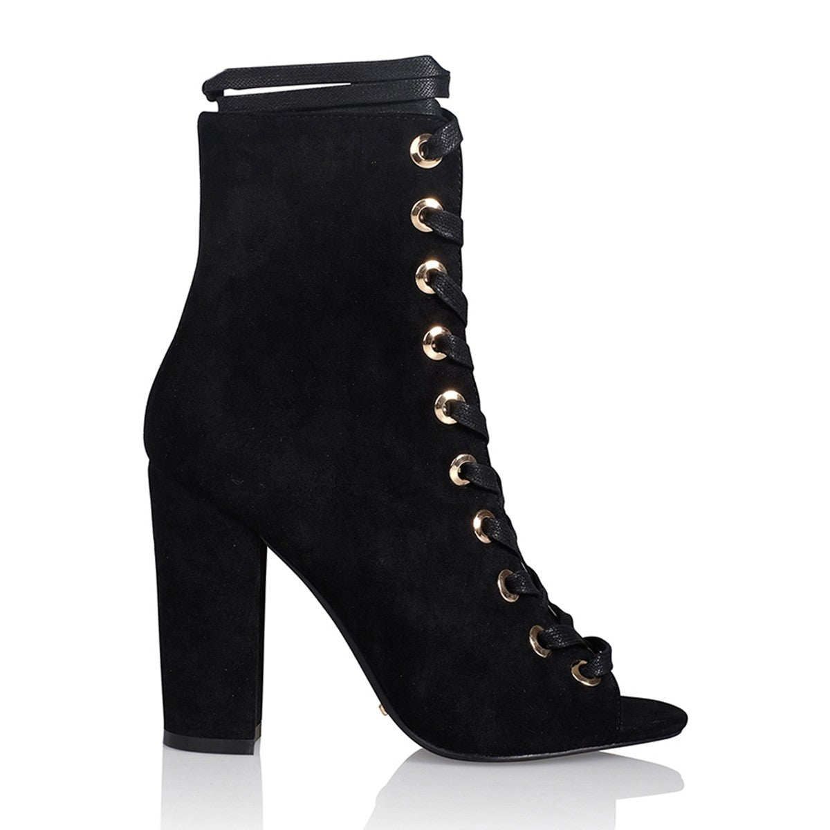 Brinnie Boots Black Suede
