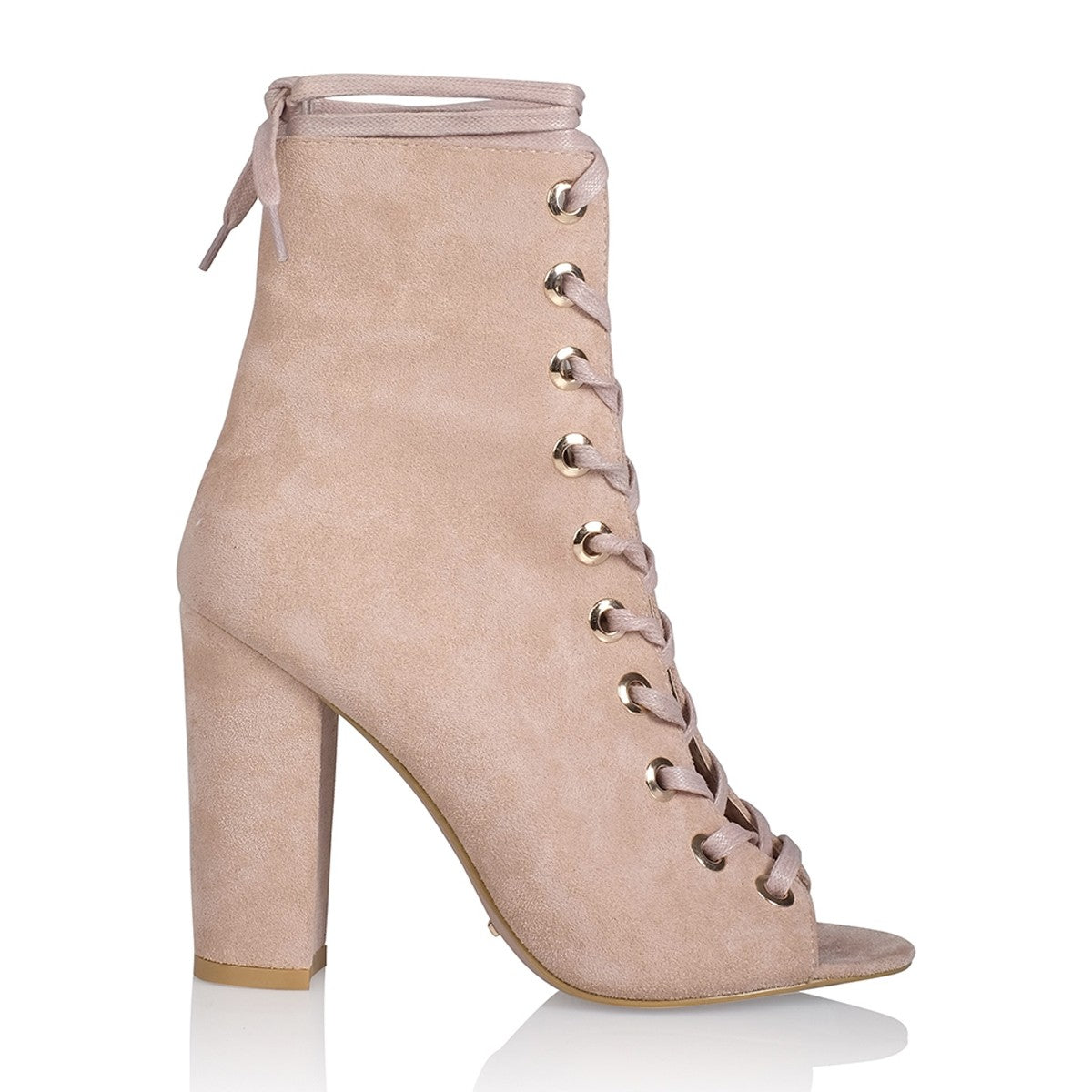 Brinnie Boots Blush Suede
