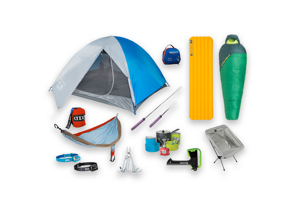 Camping Rental Gear Set Up
