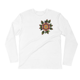 Next Level Long Sleeve Fitted Crew Mandala Design
