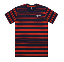 Script Stripe T-Shirt - Navy/Red