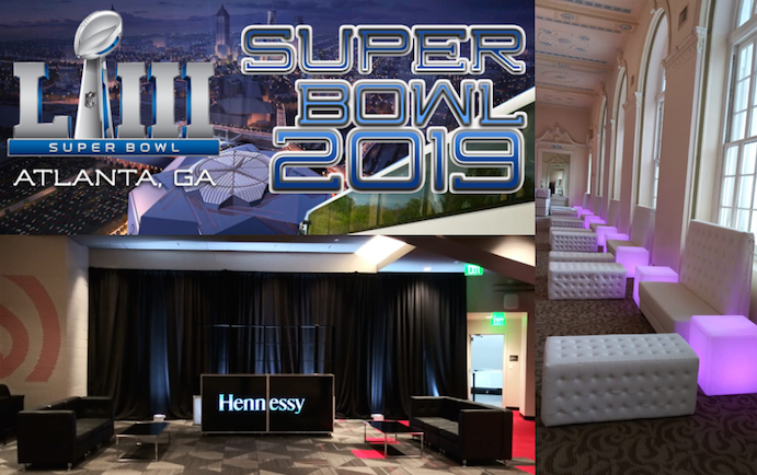 Luxury Lounge & Lighting Pre-Games for Super Bowl LIII