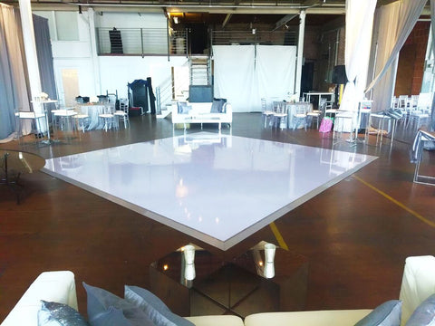 White Acrylic Dance Floor