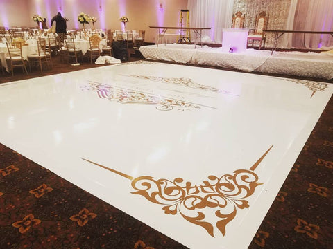 Vinyl Dance Floor Wrap with Custom Decal