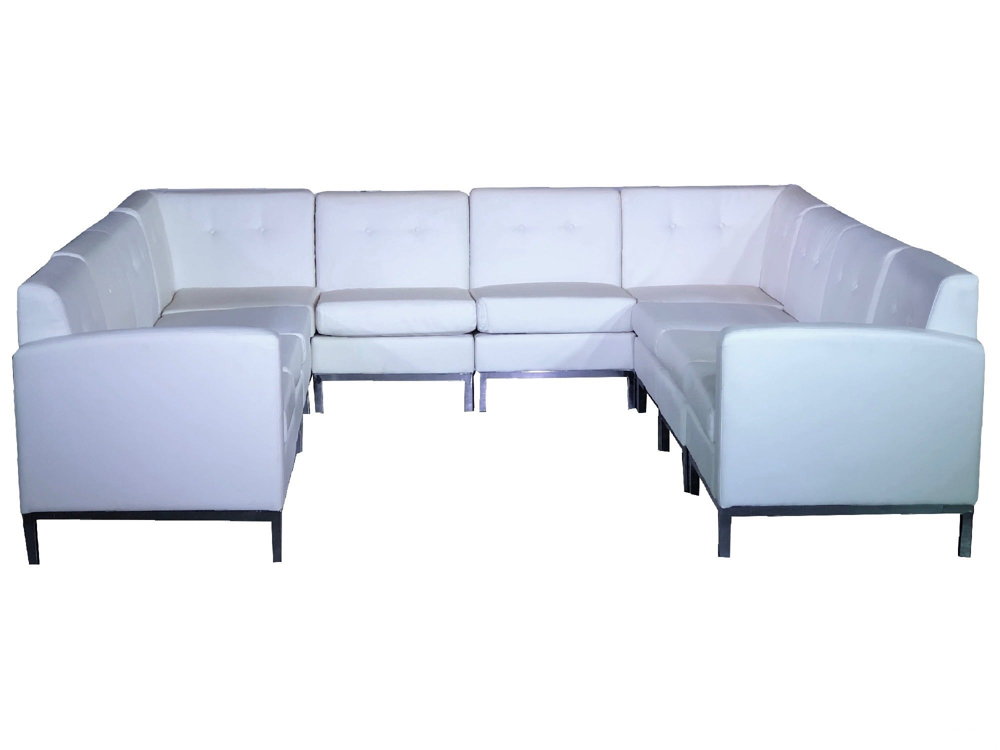 "PEACHTREE 10pc ""U"" SHAPED SECTIONAL - WHITE"