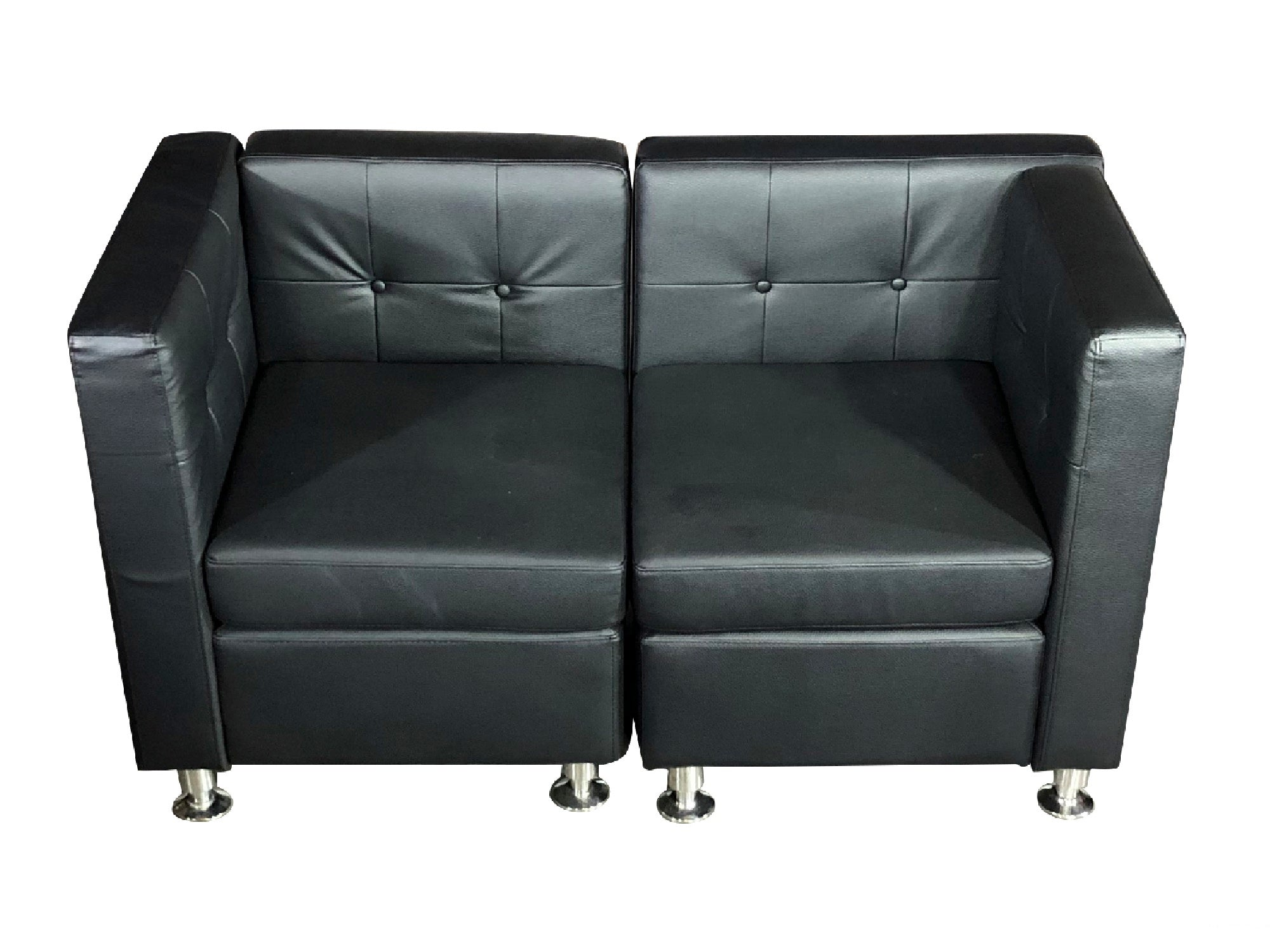 CLUB 2PC SOFA - BLACK