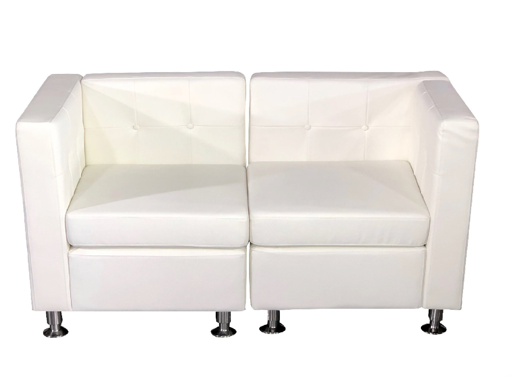 CLUB 2PC SOFA - WHITE