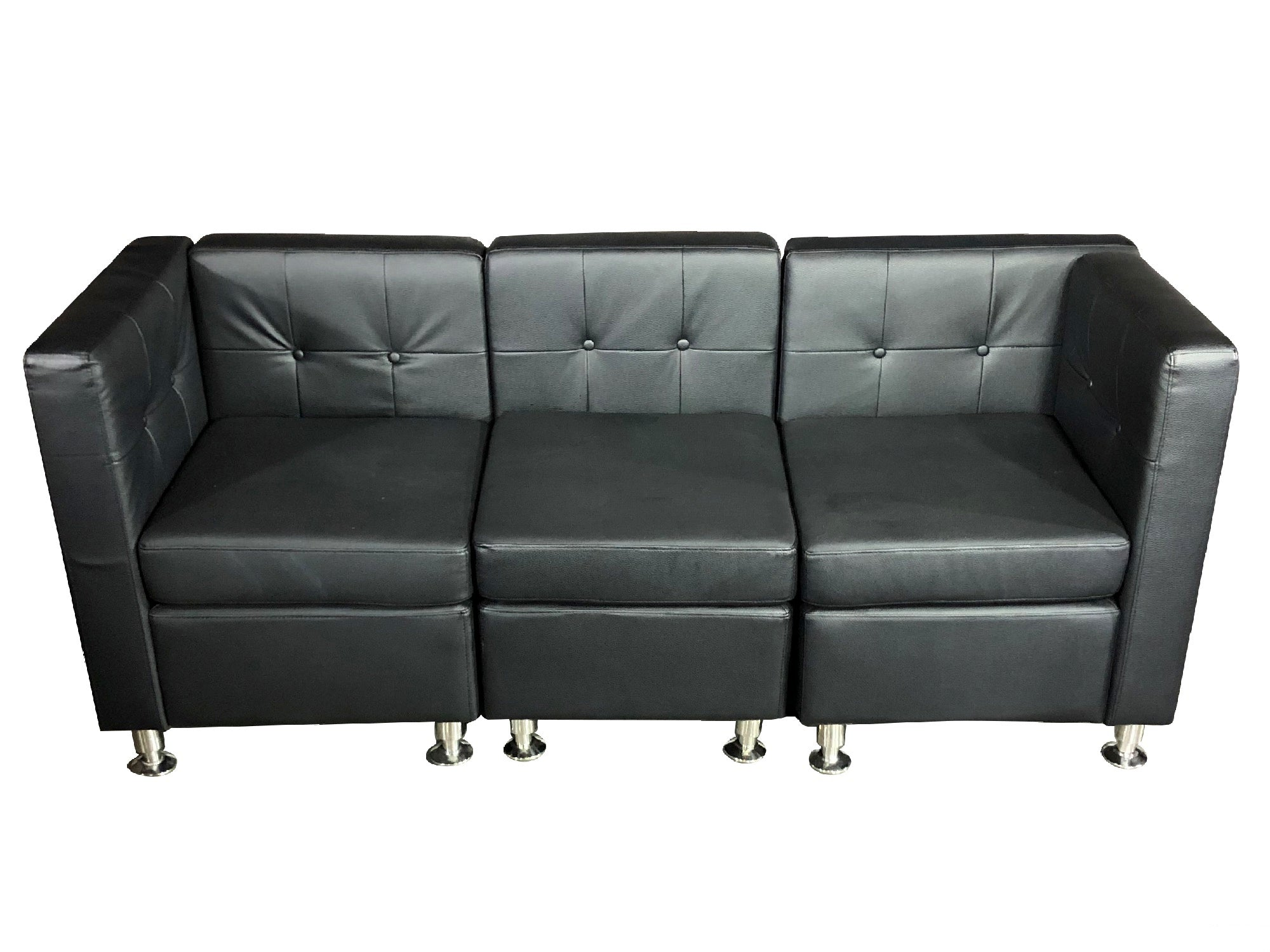 CLUB 3PC SOFA - BLACK