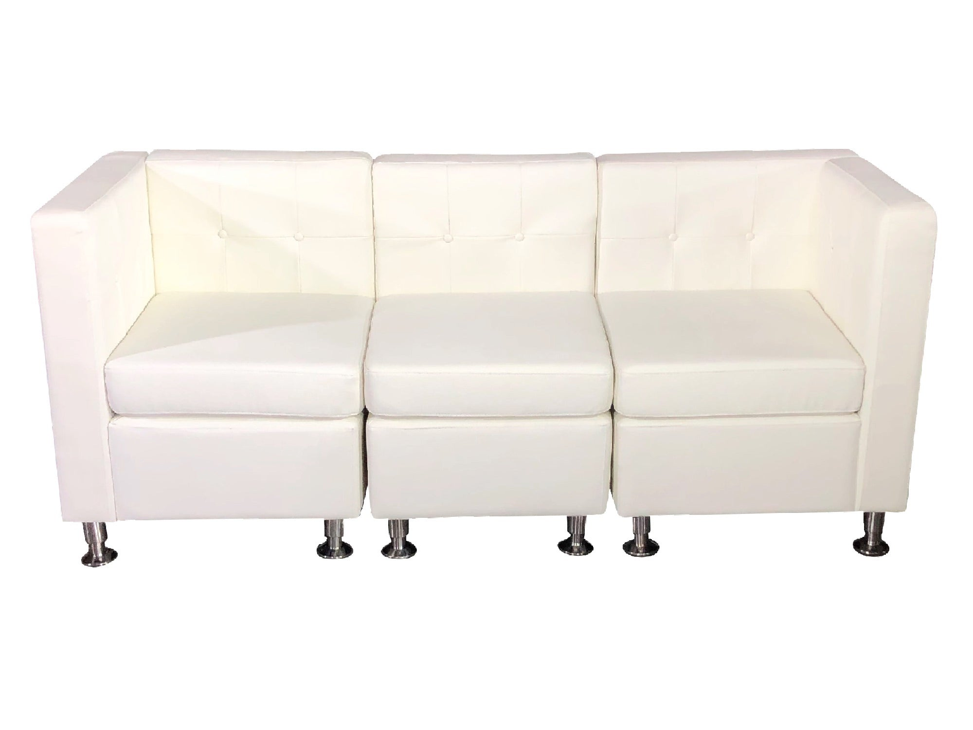 CLUB 3PC SOFA - WHITE