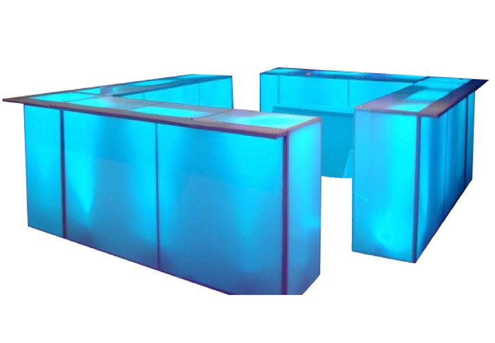 ILLUMINATED 4 - SIDED ACRYLIC BAR
