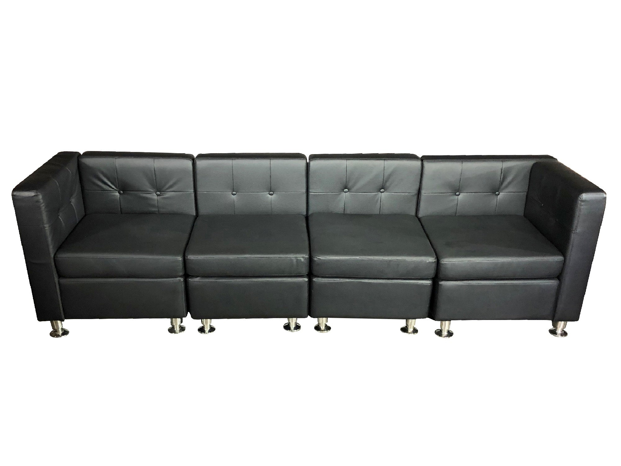 CLUB 4PC SOFA - BLACK