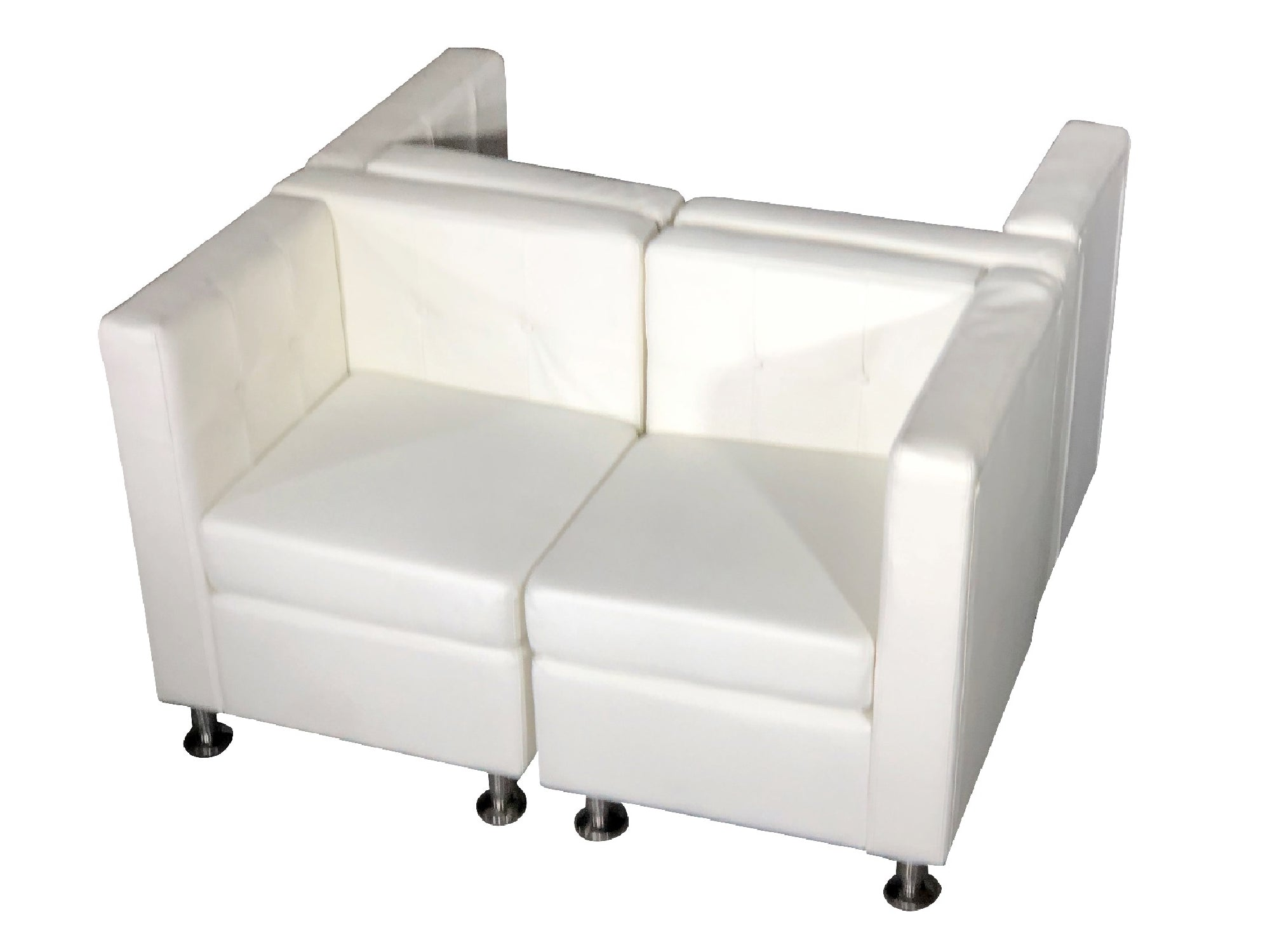 "CLUB 4PC ""H"" SHAPED SECTIONAL - WHITE"