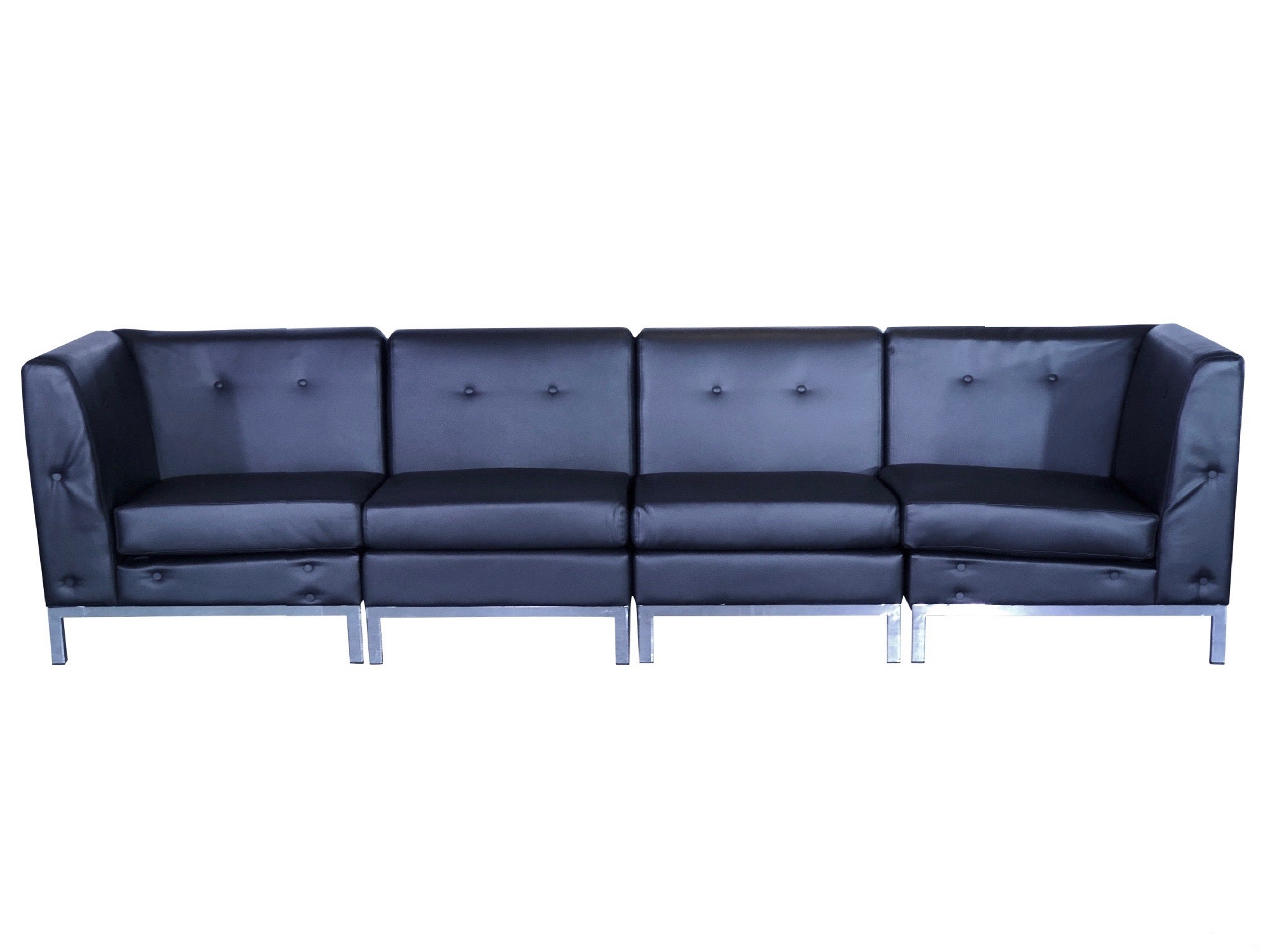 PEACHTREE 4PC SOFA - BLACK