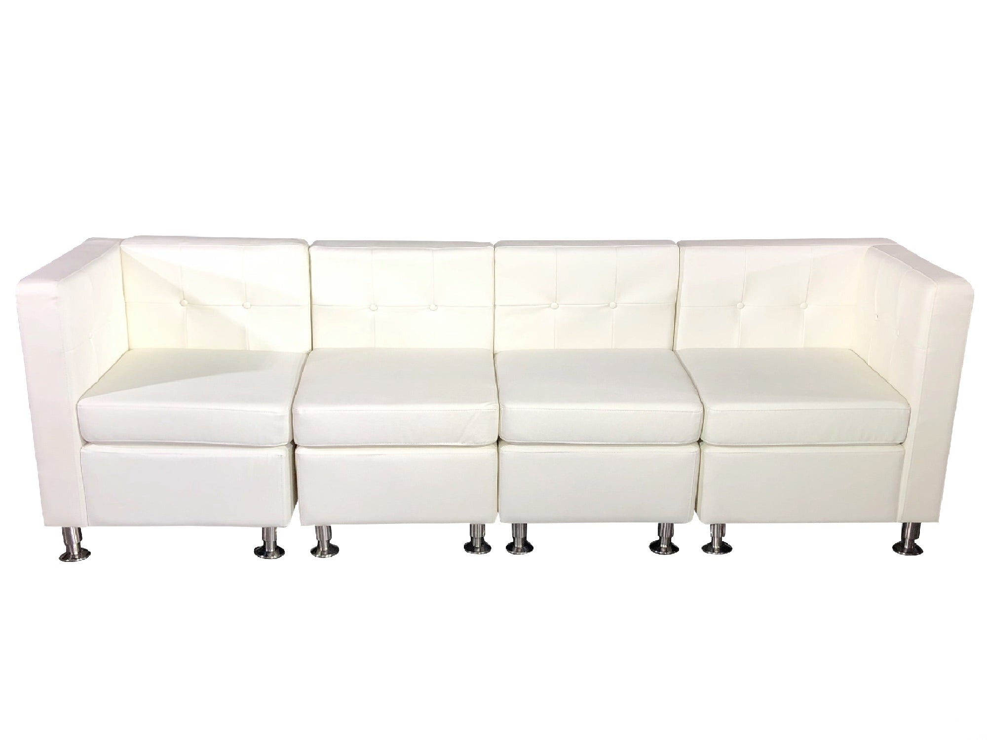 CLUB 4PC SOFA - WHITE