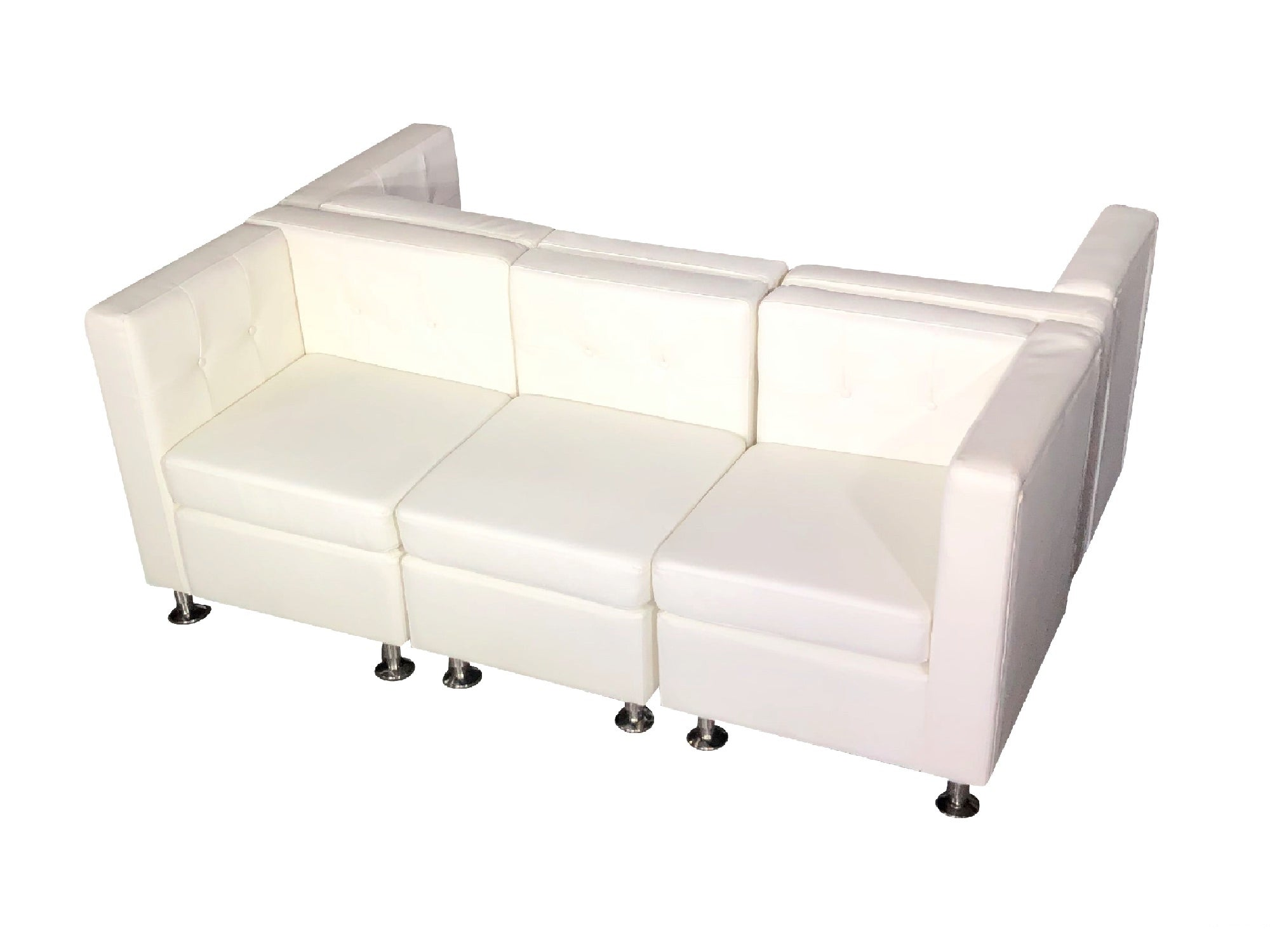 "CLUB 6PC ""H"" SHAPED SECTIONAL - WHITE"