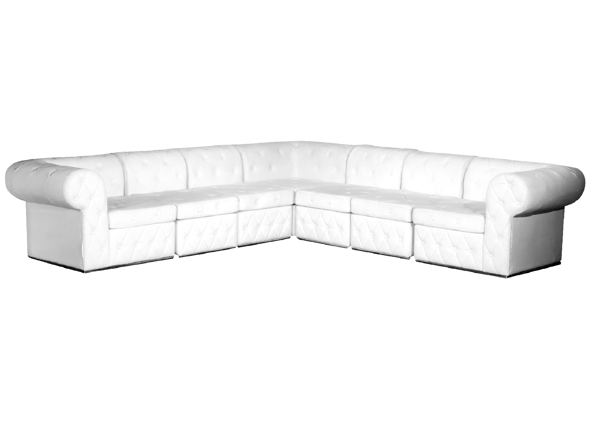 "VENETIAN 7PC ""L"" SHAPED SECTIONAL"