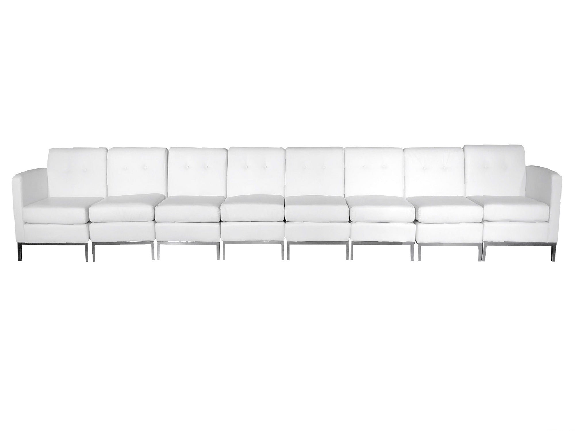 PEACHTREE 8PC LONG SOFA - WHITE