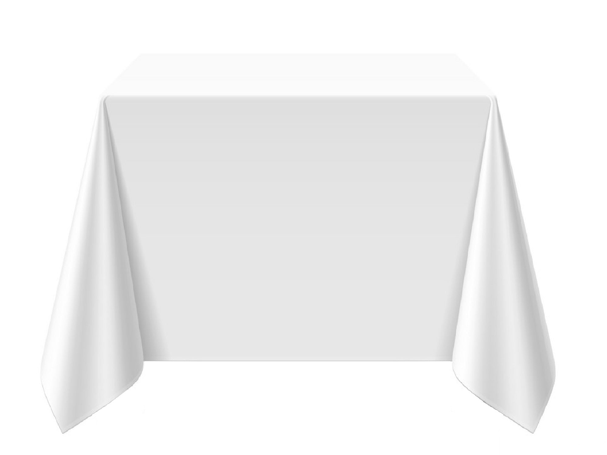 "SQUARE POLY LINENS | 90"" x 90"" - WHITE"